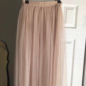 Cream tulle skirt